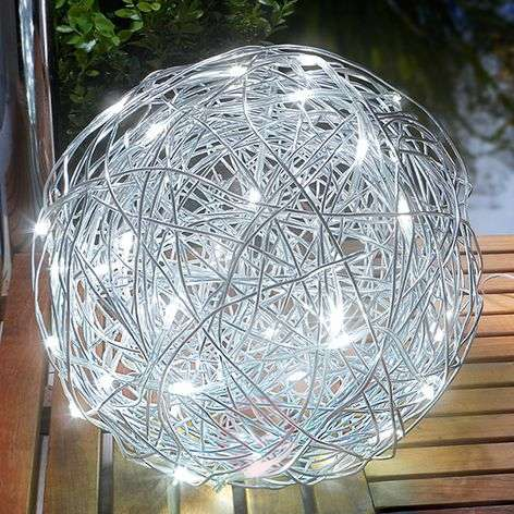 Aurinkokäyttöinen LED-koristepallo alumiini, ulos