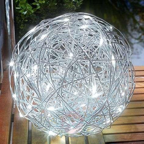 Aurinkokäyttöinen LED-koristepallo alumiini, ulos-3012511-31