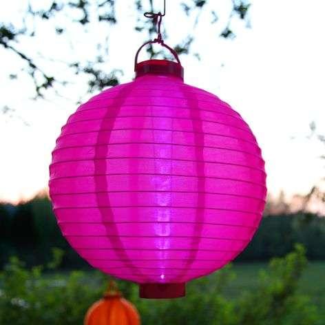 Aurinkokäyttöinen LED-paperilyhty Jerrit, pinkki