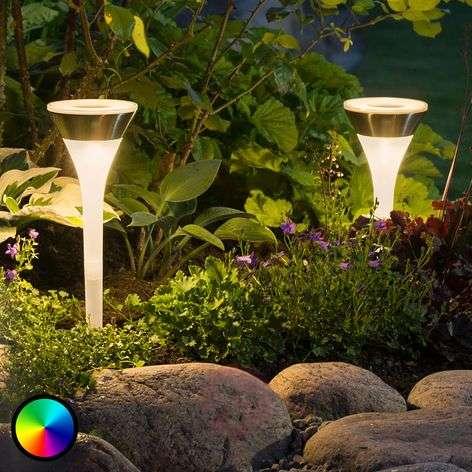 Aurinkokäyttöinen maapiikkivalaisin Assisi RGB-LED