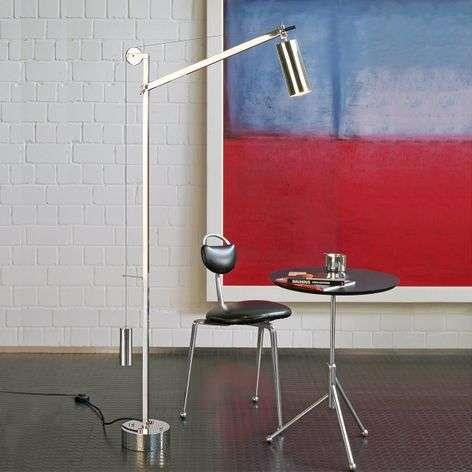 Bauhaus-tyylinen lattiavalaisin vastapainolla