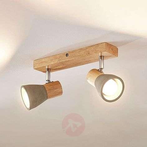Betoni-puu-kattovalaisin Filiz LED-lampuilla