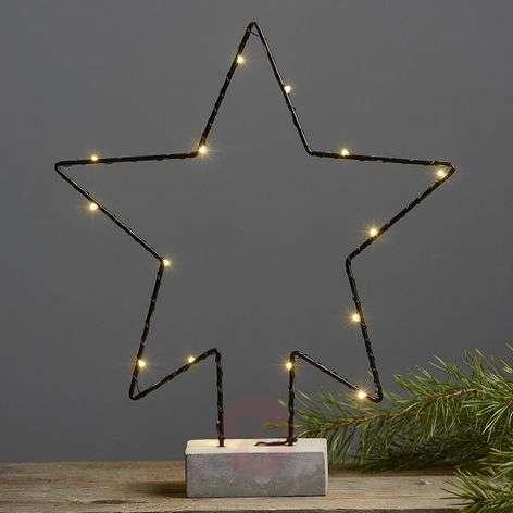 Betonijalka-koristevalaisin Cemmy, tähtimuoto