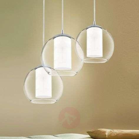Bolsano - 3-lamppuinen riippuvalaisin lasia