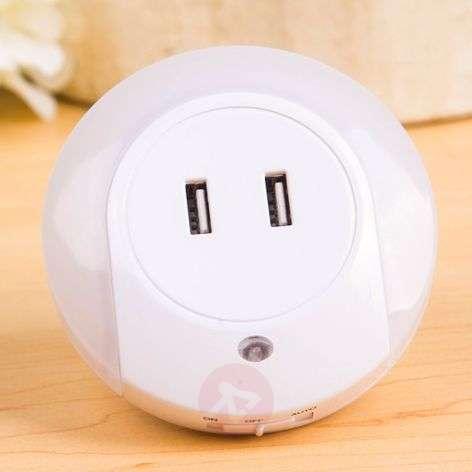 Brit LED-yövalo, tunnistin ja USB-liitännät