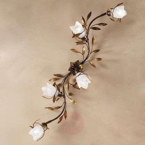 Campana-kattolamppu, 5-lamppuinen, kaareva