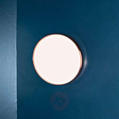 Clara - tasainen LED-kattovalaisin kuparirenkaalla