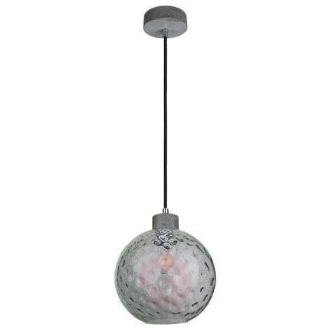 Clean-riippuvalaisin lasipallolla ja betoniosilla
