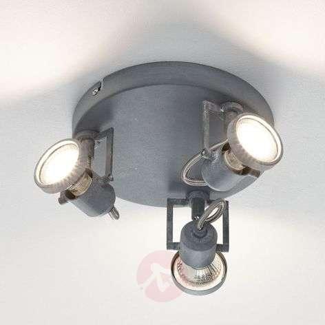 Concreto - kolmilamppuinen LED-spottiplafondi