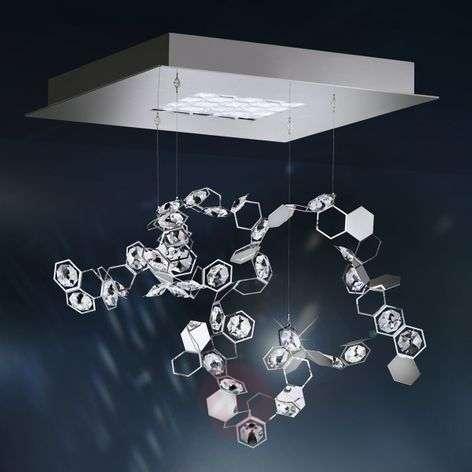 Crystalon-riippuvalaisin LEDeillä, 39x39 cm