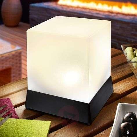Cube - koristeellinen pöytävalaisin aurinkokenno
