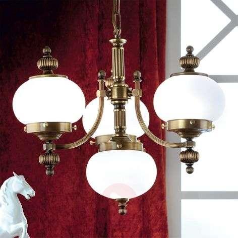Delia riippuvalaisin antiikkimessinki 4-lamppuinen