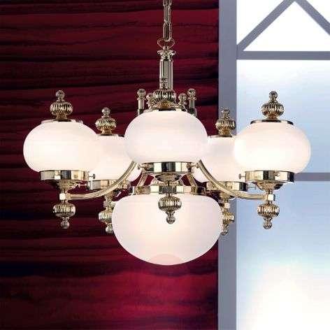 DELIA – tyylikäs kattokruunu, 6-lamppuinen