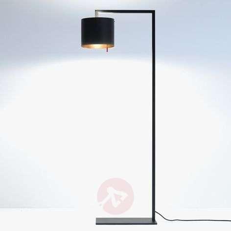 Design-LED-lattiavalaisin Afra, musta kulta
