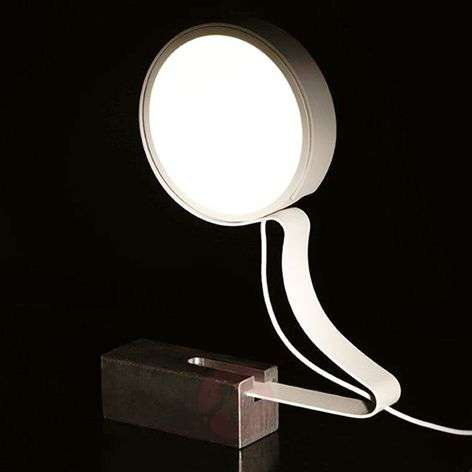 DND Profile -LED-pöytävalaisin valkoisena