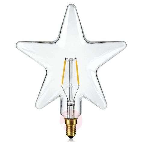 E14 0,5W tähdenmuotoinen LED-lamppu, kirkas