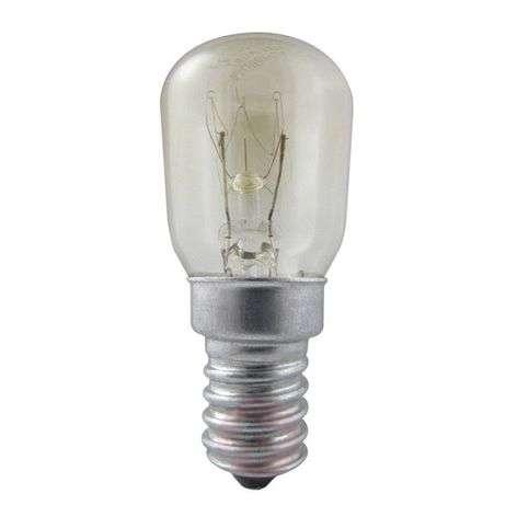 E14 15W Jääkaapinlamppu, kirkas, himmennettävä