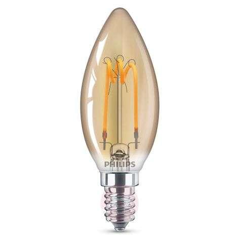 E14 2,3W LED-kynttilälamppu Curved läm. valkoinen