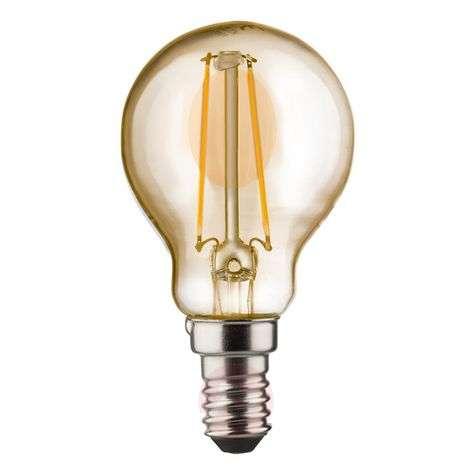 E14 2W 820 LED-pisaralamppu kulta
