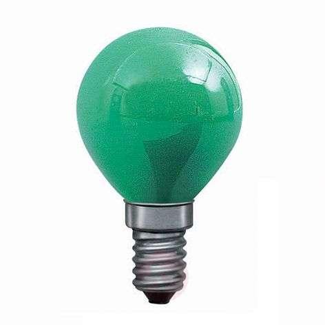 E14 25W pisaralamppu vihreä, valoketjuun