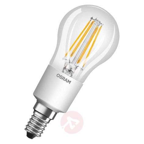 E14 5W LED-hehkulankapisaralamppu, himmennettävä