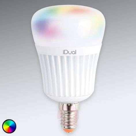 E14 iDual LED-lamppu, 7W RGB ilman kaukosäädintä
