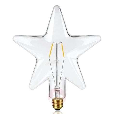 E27 0,5W tähdenmuotoinen LED-lamppu, kirkas