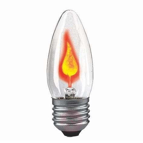 E27 3W lepattava kynttilälamppu, kirkas