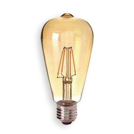 E27 4W 824 LED-rustiikkilamppu kultainen, kirkas