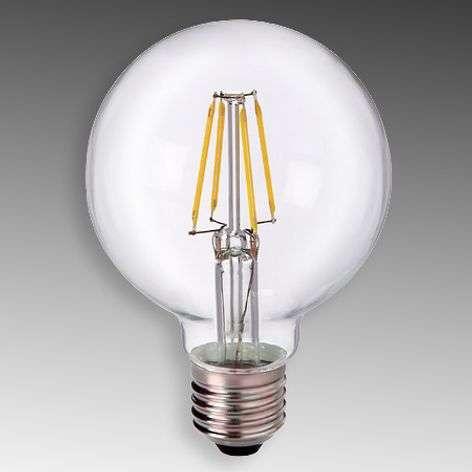 E27 5W 827 LED-pallolamppu G80, kirkas