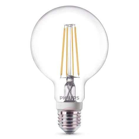 E27 7W 827 LED-pallolamppu G95 kirkas, himmen.