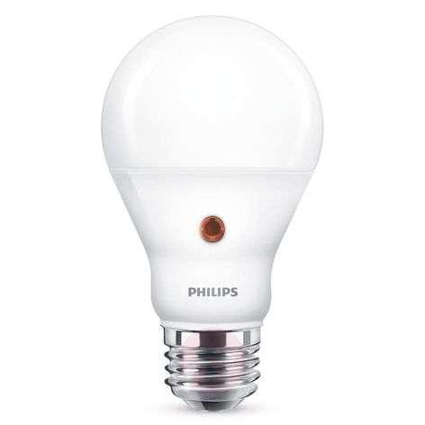 E27 A19 LED-lamppu päivä/yötunnistin 7,5 W 2700 K