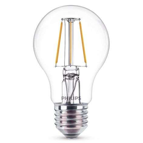 E27 A60 -LED-filamenttilamppu 4 W, 2700 K, kirkas