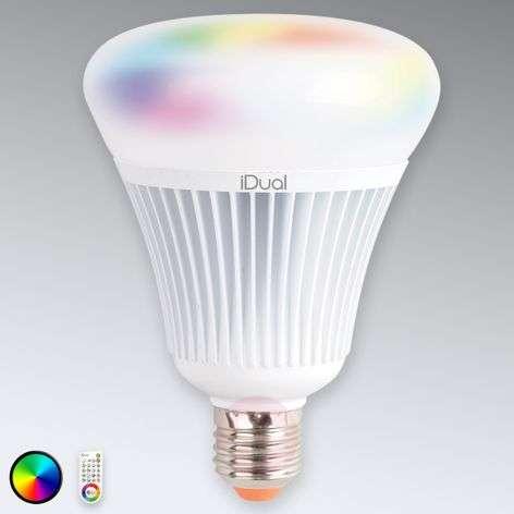 E27 LED-lamppu iDual G100, kaukosäätimellä, 16W