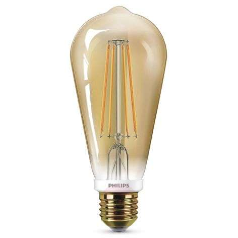 E27-LED-lamppu ST64 8 W kulta, himmennettävä