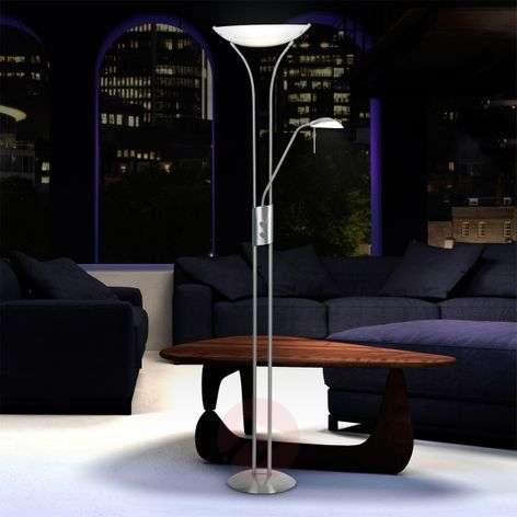 Elegantti LUPO-jalkalamppu, valkoinen varjostin