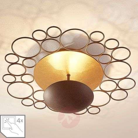 Epäsuora valaistus LED-kattolamppu Pinja ruoste-9621433-31