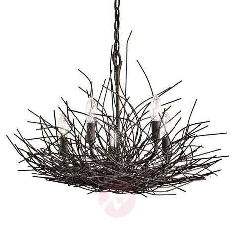 Epätavallinen Organique-kattokruunu, 5 lamppua