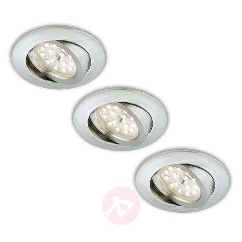 Erik-LED-uppokohdevalo, 3 kpl – käännettävä, alu-1510286-31