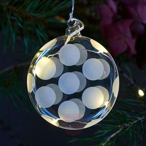 Filigraanityönä valmistettu LED-lasipallo Polka-8577247-31