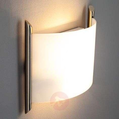 Filippa-lasiseinävalaisin 31 cm satinoitu nikkeli