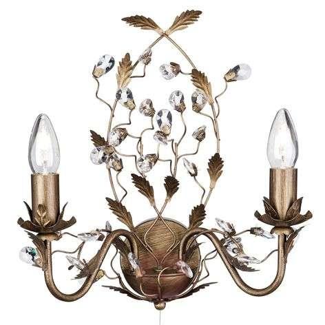 Firenzeläistyylinen Almandite-seinävalaisin 2-lamp