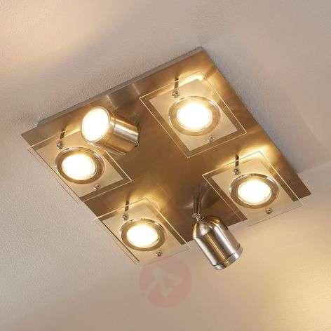 Fjolla-kattovalaisin himm. GU10-LEDeilä, 6-lampp.