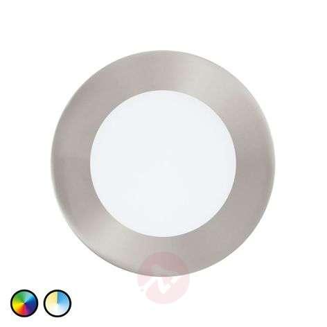 Fueva-Connect -LED-uppovalaisin pyöreä matta nikk.