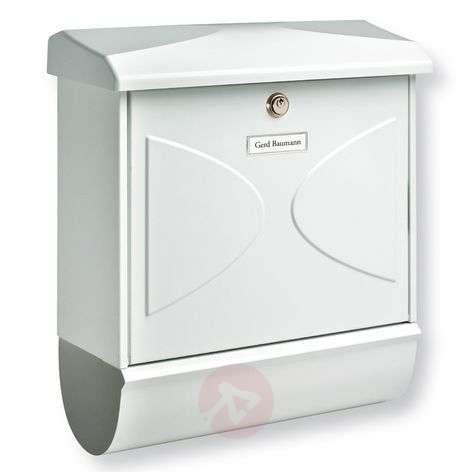 Futura-postilaatikko lehtirullalla, valkoinen