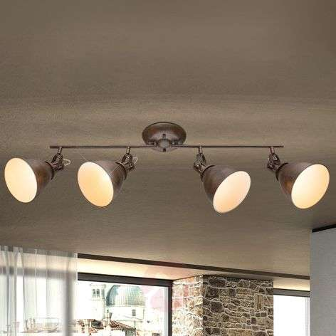 Giorgio – 4-lamppuinen kattospotti, ruosteenruskea