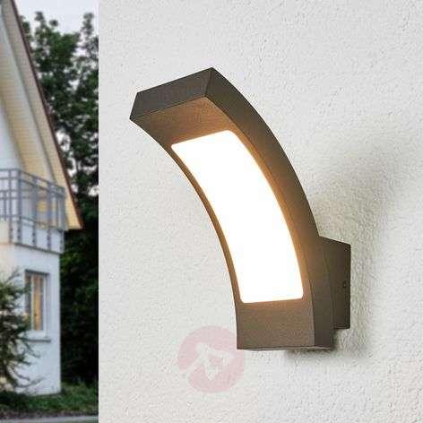 Grafiitinharmaa LED-ulkoseinävalaisin Juvia, IP54