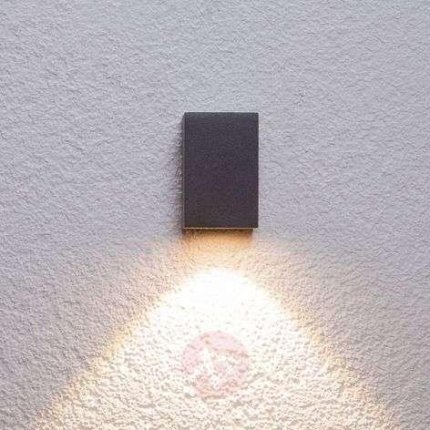 Grafiitinharmaa LED-valaisin Tavi, korkeus 9,5cm