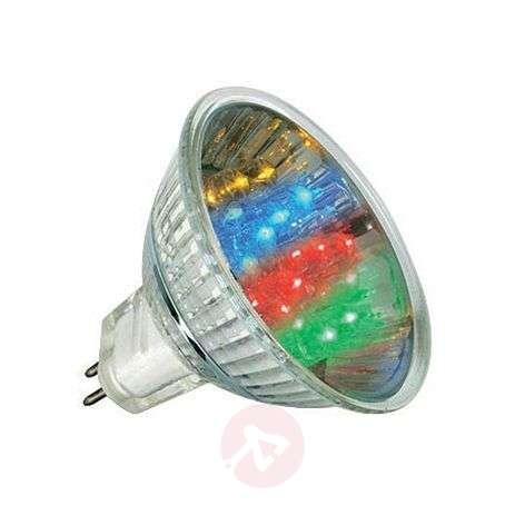 GU5,3 MR16 1W LED-heijastinlamppu, monivärinen