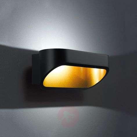 Helestra Onno LED-seinävalaisin 18 cm musta kulta